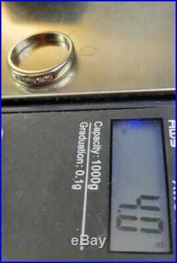 James Avery 18k Palladium White Gold Diamond (. 15TDW) Ring Sz7 Near Mint