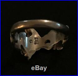 James Avery 3D Hummingbird & Flowers Ring Sterling Silver Size 6