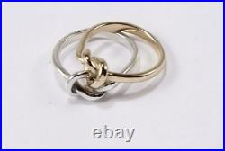 James Avery 585 14k Yellow Gold & 925 Ss Love Knot Band Ring Size 8/t58/uk-q