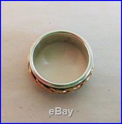 James Avery 585 14kt Gold & 925 Sterling Silver Braided Band Ring Retired SIZE 6