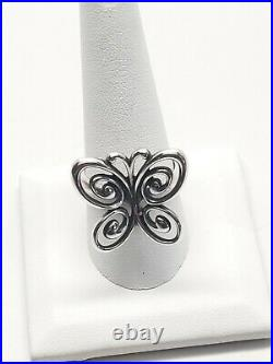 James Avery Abounding Spring Butterfly Ring. Retired. Rare. 925 Preowned Size 10