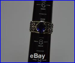 James Avery Adoree Ring with Blue Sapphire in Sterling Silver