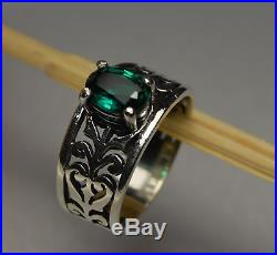James Avery Adoree Ring with Emerald in Sterling Silver
