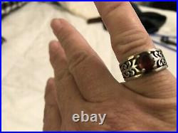 James Avery Adoree Ring with Garnet Size 7 925