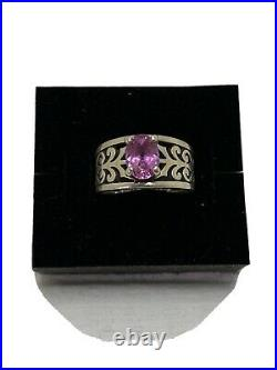 James Avery Adoree Ring with Pink Sapphire Size 6