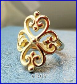 James Avery Adorned Hearts Ring Sz8 Mint Condition