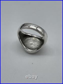 James Avery Alpha Omega Mens Ring 14KYG Sterling Silver SZ 10.5 Discontinued
