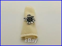 James Avery April Flower Ring Sterling Silver 18k Gold Size 6.5 RETIRED