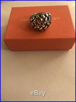 James Avery Basket Weave Ring Retired Size 9