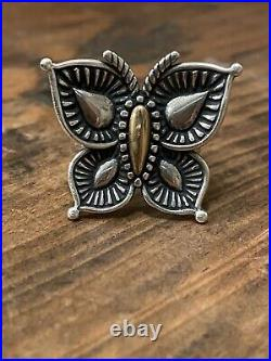 James Avery Beaded Mariposa Butterfly Ring Bronze & Silver Size 9