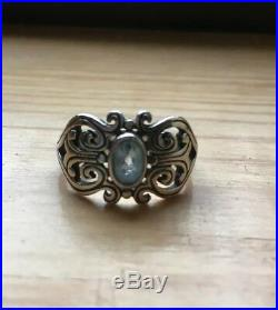 James Avery Blue Topaz Sterling Silver Ring Size 6