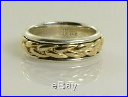 James Avery Braided Band Ring in Sterling Silver and 14k Gold Size 6.5