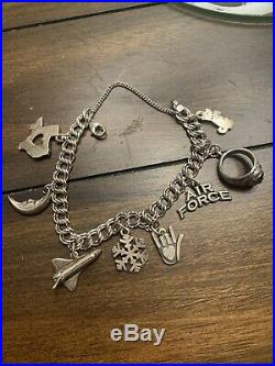 James Avery Charm Bracelet With 7 James Avery Charms, +1 Air Force Academy Ring