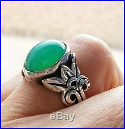 James Avery Chrysoprase Ring VERY Rare! In JA Box/Pouch NICE