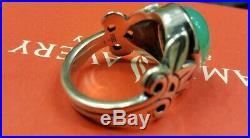 James Avery Chrysoprase Sterling silver Ring Sz 6