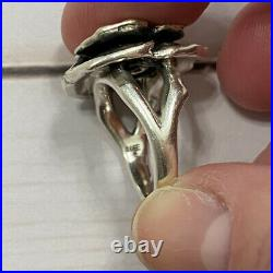 James Avery Citrine Flower Ring Sterling Silver Size 6