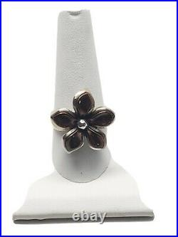 James Avery Copper Flower Ring. Retired. 925 Preowned Size 10