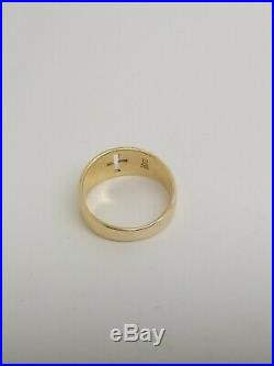 James Avery Cross Ring 14k Yellow Gold Faith Cut Out Design Unisex Size 5