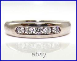 James Avery Debra Diamond 18K White Gold Ring Wedding Band Size 6 LJA2