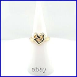 James Avery Designer Signed 14K Yellow Gold Heart Knot Ring (DG7003051)