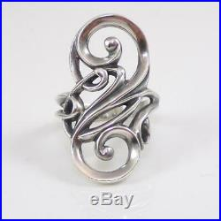 James Avery Electra Sterling Silver Swirl Modernist Ring Size 7.5 LHA5