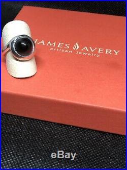 James Avery Encircled Black Onyx Ladies Ring, Size 8