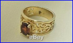 James Avery Garnet Ring 14K Yellow Gold Size 7 1/2