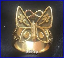 James Avery Gold Butterfly (Mariposa) Women's Ring (retired) size 7