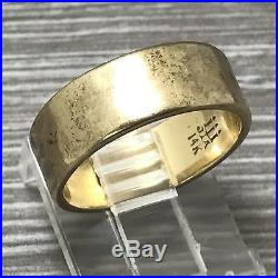 James Avery Hammered Amore Band Ring WB-83-14 Sz 6 14K Gold. 585