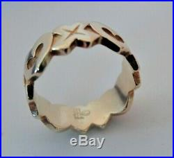 James Avery Hugs and Kisses 14k gold Ring Size 4 Retired