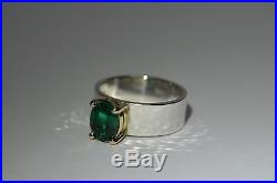 James Avery Julietta Ring with Emerald in 14k Gold and Sterling Silver