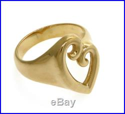 James Avery Open Heart Ring, 14K Yellow Gold Ring with Open Heart Design