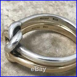 James Avery Original Lovers' Knot Ring RG-1237 Sz 8 14K Gold Sterling Silver