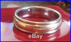 James Avery Palladium & 14k Gold ` Band / Ring Size 10 3/4 &10.26 Grams (205)