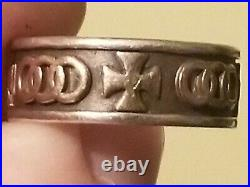 James Avery Pattee Cross Band Ring in 14k Gold and Sterling Silver Size 11