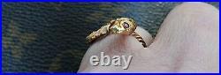 James Avery RARE RETIRED VINTAGE ESTATE 14K YELLOW GOLD SNAKE RING SZ 7