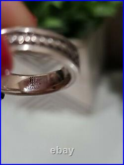 James Avery RARE Silver 14K Yellow Gold Amethyst LILY Cross Ring! RETIRED