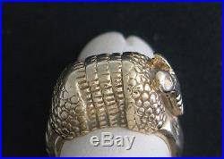 James Avery RETIRED 14K Yellow Gold Armadillo Ring, Size 4 No Reserve