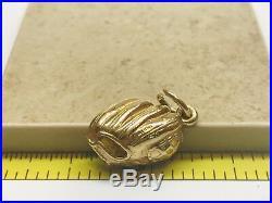 James Avery RETIRED Baseball Glove Pendant Charm 14K Yellow Gold Cut Jump Ring
