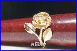 James Avery RETIRED Large Rose Ring Size 6.5 Yellow Gold