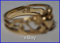 James Avery RETIRED Open Floral Heart Ring 14K Size 6