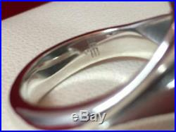 James Avery RETIRED Sterling Silver Leaf Bypass Wrap Ring Size 6.75 7