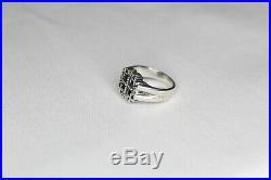 James Avery Rare Jerusalem 5 Cross Sterling Silver Ring