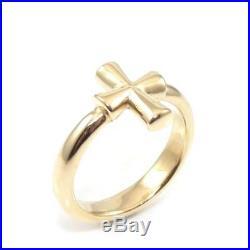 James Avery Rare Retired 14K Yellow Gold St Teresa Cross Ring Size 5