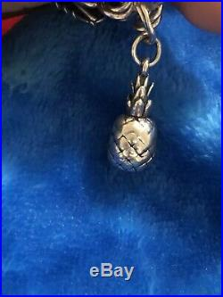 James Avery Rare Retired 3d Pineapple Charm Sterling Silver No Jump Ring