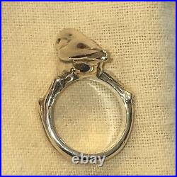 James Avery Rare Retired Bird On Branch Ring Silver Size 5.5