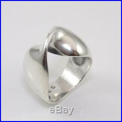 James Avery Rare Retired Sterling Silver Mobius Twist Ring Size 7