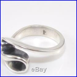 James Avery Rare Retired Sterling Silver Modernist Swirl Ring Size 10