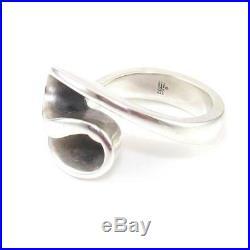 James Avery Rare Retired Sterling Silver Modernist Swirl Ring Size 8