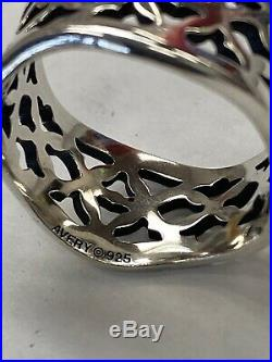 James Avery Rare Retired Sterling Silver Open Cut Tulip Wavy Band Ring Size 10